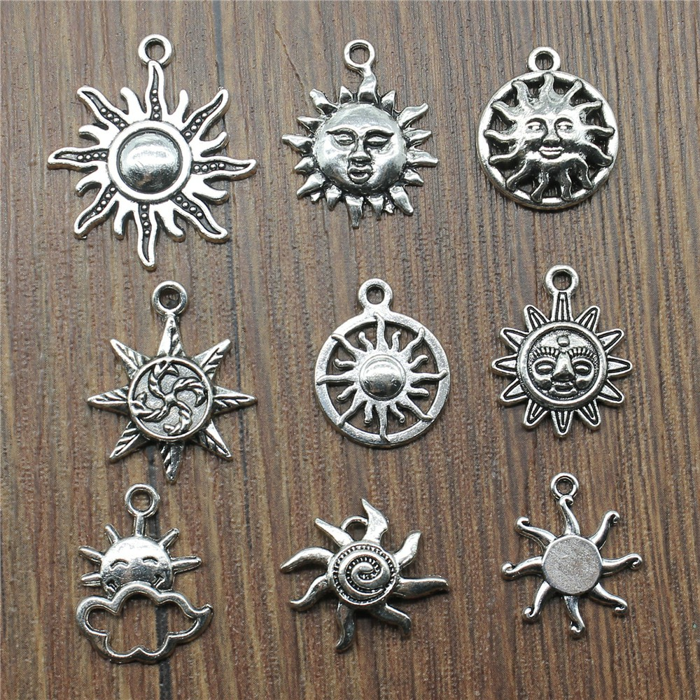 20 шт. / Лот подвеска от солнца, подвески, античное серебро, подвески от солнца, ювелирные изделия, сделай сам, подвески от солнца для изготовле...