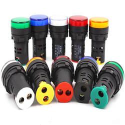 1 шт. 12 В 24 в 110 В 220 В 380 В 22 мм светодиод для монтажа на панель мощность Индикатор Пилот сигнала свет лампы AD16-22 красные, синие белый зеленый