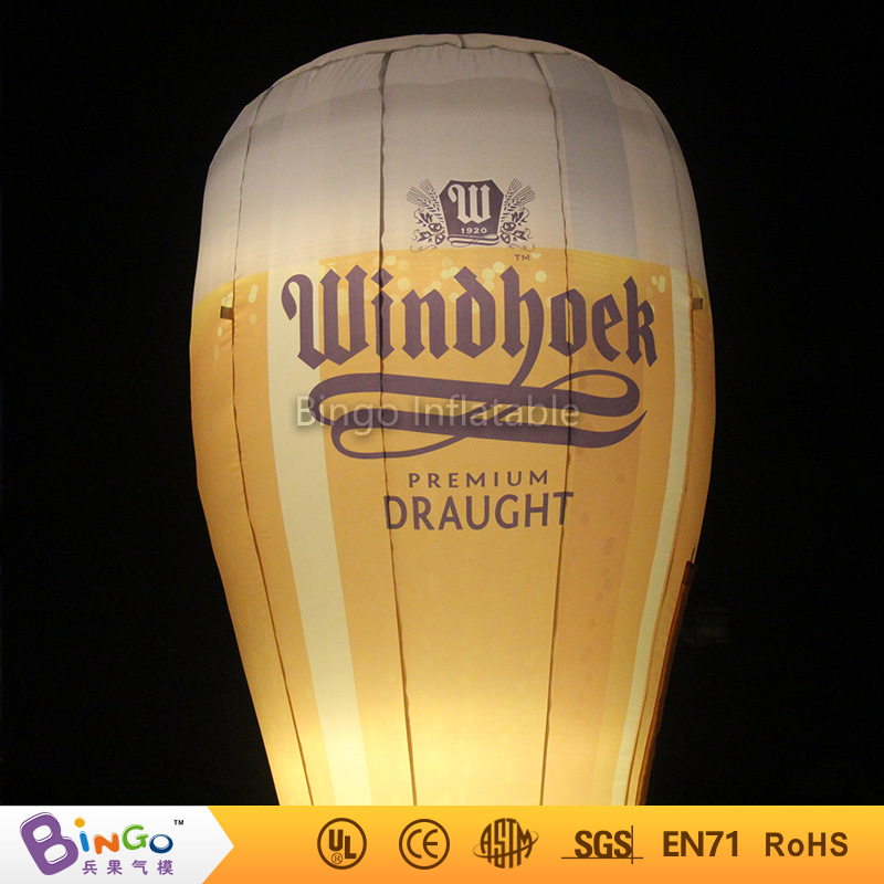 Bingo advertising 3m high inflatable beer glass cup with led lighting for Oktoberfest party Model Building Kits biginflatabel cask inflatabel beer can with led lighting 3 5m high for oktoberfest festival party model building kits