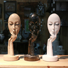 Nordic style character mask cafe decoration Shooting prop art abstract sculpture