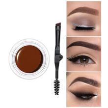 Makeup Eyebrow Dye Gel Waterproof Shadow Eye Brow Long Lasting Tint Shade Make Up Paint Pomade Cosmetic Cream With Brush недорого