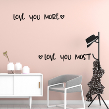 Personalized Love You More Vinyl Kitchen Wall Stickers Wallpaper For Kids Rooms Home Decor Decorative