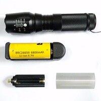 X800 G700 6000 Lumen Flashlight Cree XM L2 T6 LED Tactical Flashlight Torch With 1 X