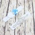 Сексуальные Женщины Свадьба Свадебный Кружева Цветочные Свадебные Подвязки Комплект Ремней Нога Кольцо Кристаллы Бисероплетение Свадебные Подвязки Набор