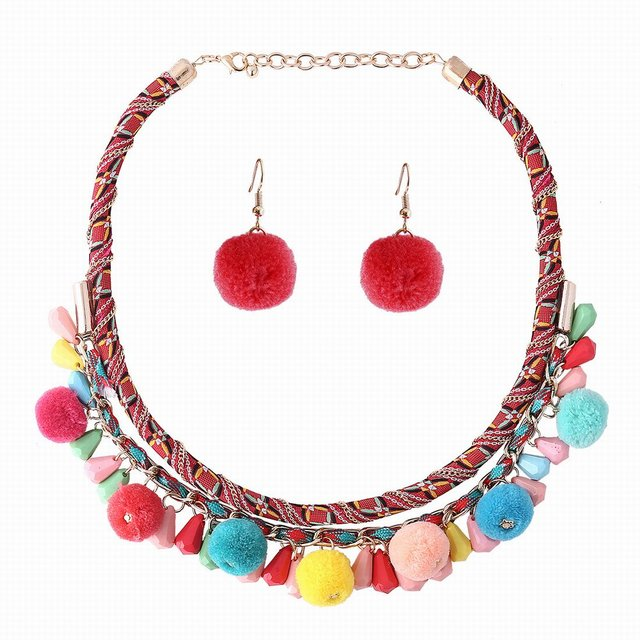 Olsen Twins Colorful Acrylic Beads Pom Pom Tassel Necklace Earrings Set Women Bohemian Stylish Costume Jewelry  sc 1 st  AliExpress.com & Olsen Twins Colorful Acrylic Beads Pom Pom Tassel Necklace Earrings ...
