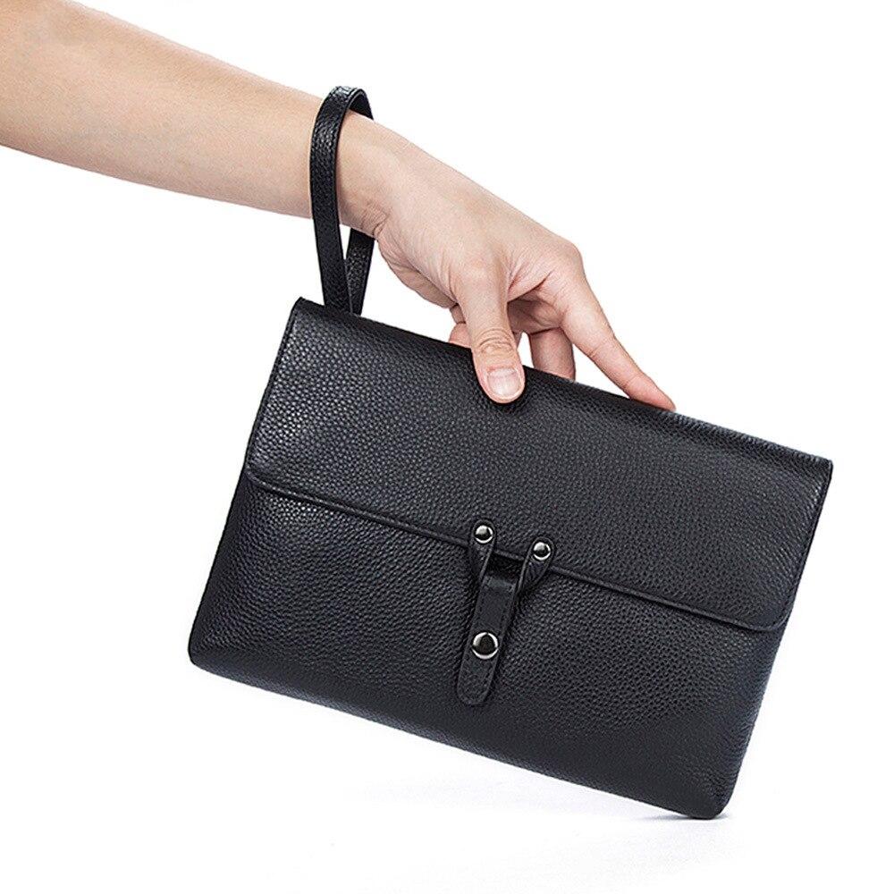 f6b3faf74c98 Для мужчин кожаная сумка Вязание клатч сумка кошелек удобная сумка Сумки  Ежедневные клатчи мужской большие кошельки
