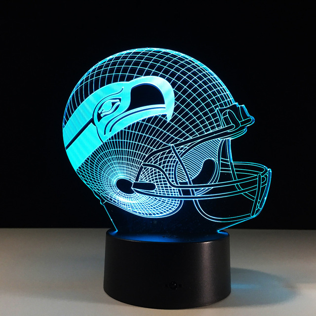 Novelty NFL Seattle Seahawks Football Helmet Illusion LED Night ...