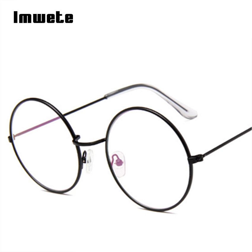 Hot Sale Imwete Vintage Round Glasses Frame Transparent Optical ...