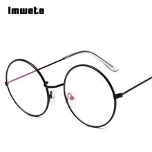 Imwete Vintage Round Glasses Frame Transparent Optical Metal For Harry Potter Frame Retro Eyeglass Clear Eye Glasses Frames(China)