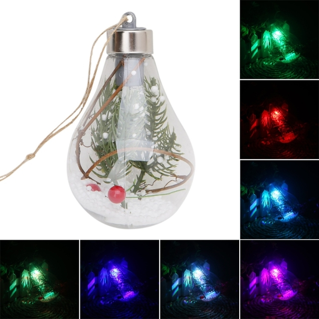 led clear ball christmas tree hanging blub light home holiday ornaments lights christmas decorations for home
