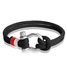 JAAFAR шарм неограниченный мужской браслет Винтажный стиль ручной нейлоновый браслет для вашего любимого ювелирные изделия AS185