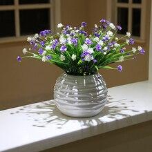 Flower Bonsai Orchid babysbreath artificial flowers set Simulation potted plant  Ceramic flowerpot home decoration accessories