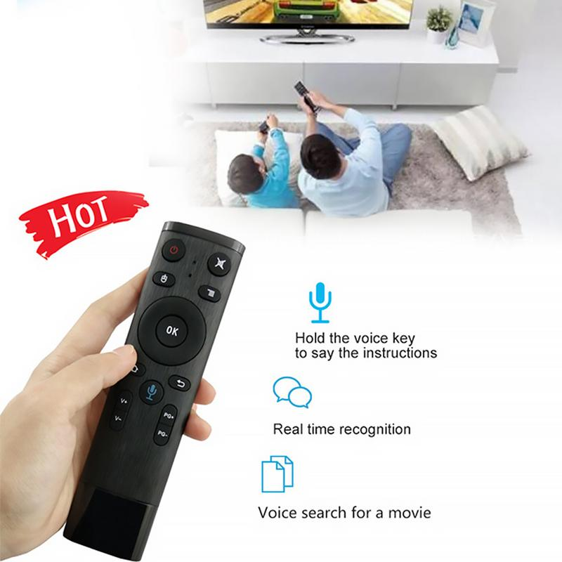 Type 1 Q5 Bluetooth//2.4GHz WiFi Voice Remote Control Air Mouse with USB Receiver for Smart TV Android Box