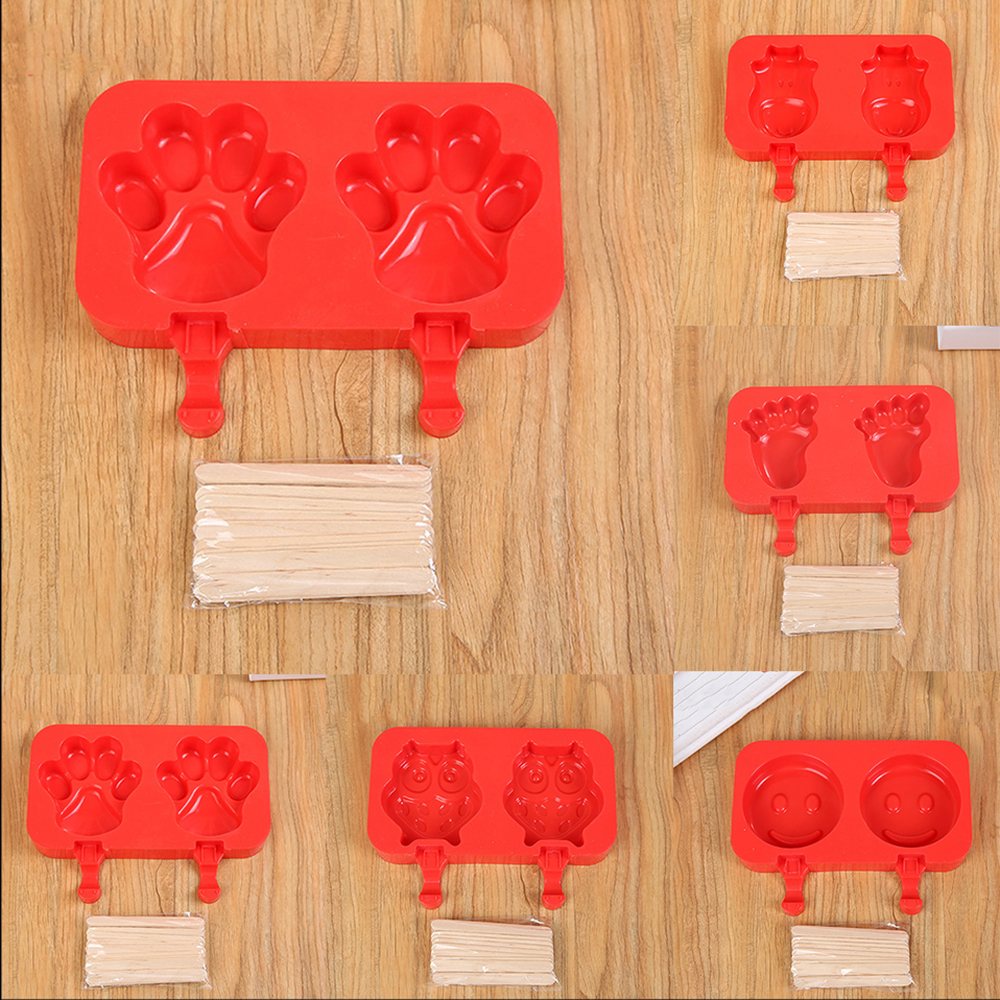 5 Style Smile Face Silicone Ice Cream Mold Pop Ice Lolly Maker Frozen Mould Popsicle Chocolate Tray Ice Cream Tubs