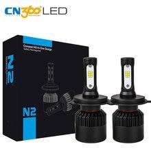CN360 2 шт. H4 9003 HB2 светодио дный CSP чип супер долгий срок службы меньше Размеры 8000LM авто фары автомобиля лампа преобразования света комплект 12 В