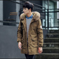 2016 Men White Duck Down Jacket Fashion Brand Winter long hair thickening hooded jacket Free Shipping men's coat Clothes