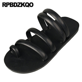 slides black size 45 rubber water men gladiator sandals summer roman slip on slippers fashion 46 soft waterproof flip flop shoes
