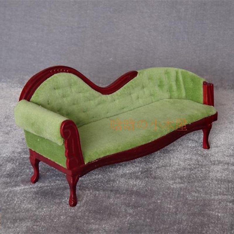 1:12 escala Dollhouse sala de sofá reclinable Muebles muñeca Banco ...