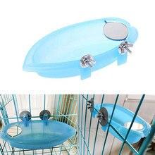 Многофункциональные пластиковые аксессуары для ванны птицы для ветки лестницы для наружного попугая ванна для птицы птичья клетка спальня