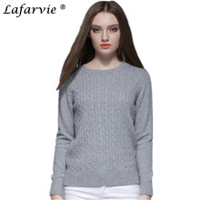 Lafarvie Women Autumn Winter Cashmere Blend Sweater V-Neck Pullovers Long Sleeve Womens Knitted Soft Sweaters13 Colors S-XXL недорго, оригинальная цена