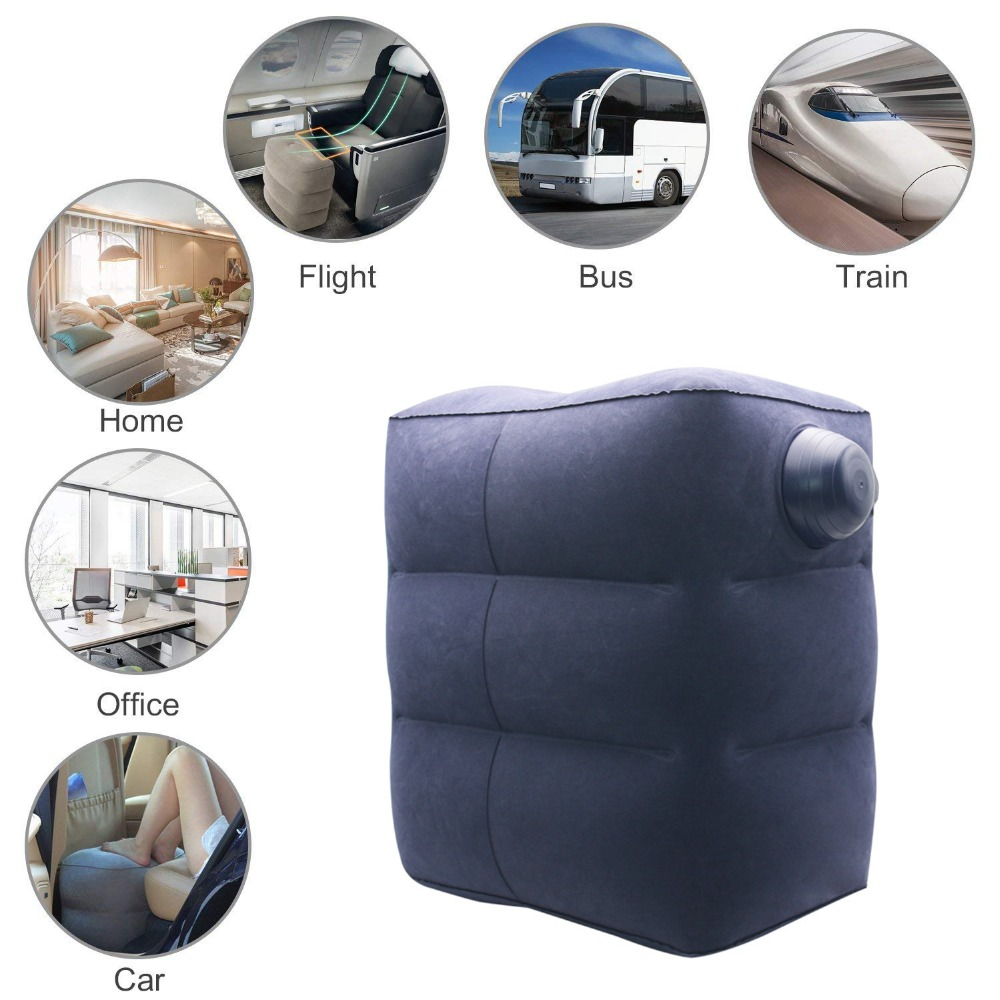 Inflatable Foot Rest Cushion for Under Desk Leg Support Pillow Knee Sciatica Hip Joint Ankle Pain Relief Car Airplane Pillowstravel pillowpillow for travelthe pillows -