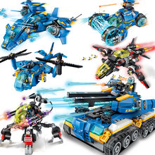 Future City Police War Armor Chariot Car Model Mech Robot Building Blocks Compatible LegoING City Sets Boy Toys Christmas Gifts(China)