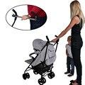 Cochecito de mano de la madre envío auxiliar Bar de paseo controlador manual paraguas de acero inoxidable reposabrazos silla de paseo