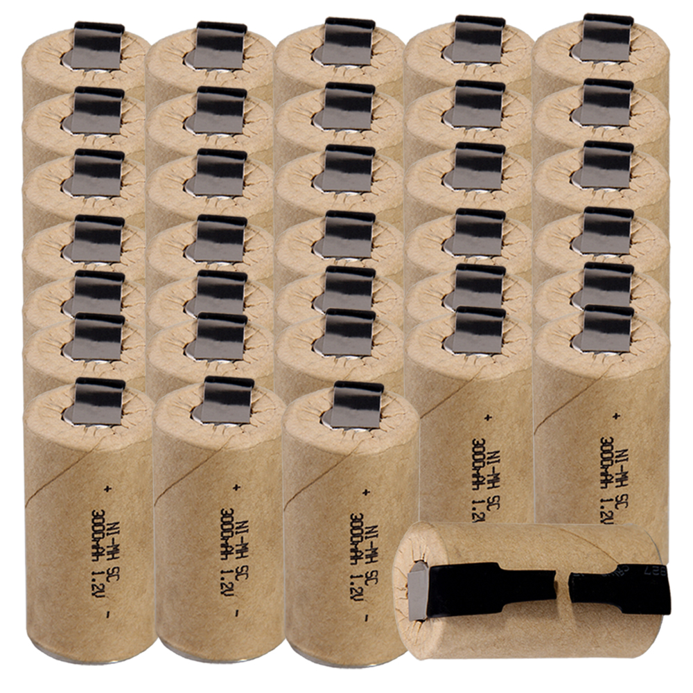 Lowest price 34 piece SC battery 1.2v batteries rechargeable 3000mAh nimh battery for power tools akkumulatorLowest price 34 piece SC battery 1.2v batteries rechargeable 3000mAh nimh battery for power tools akkumulator