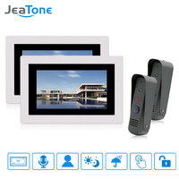 JeaTone 7 Display Wired Video Door Phone Intercom Doorbell Kit Night Vision Waterproof Touch Screen Color