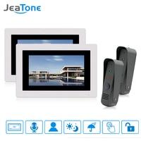 JeaTone 7 Display Wired Video Door Phone Intercom Doorbell Kit Night Vision Waterproof Touch Screen Color
