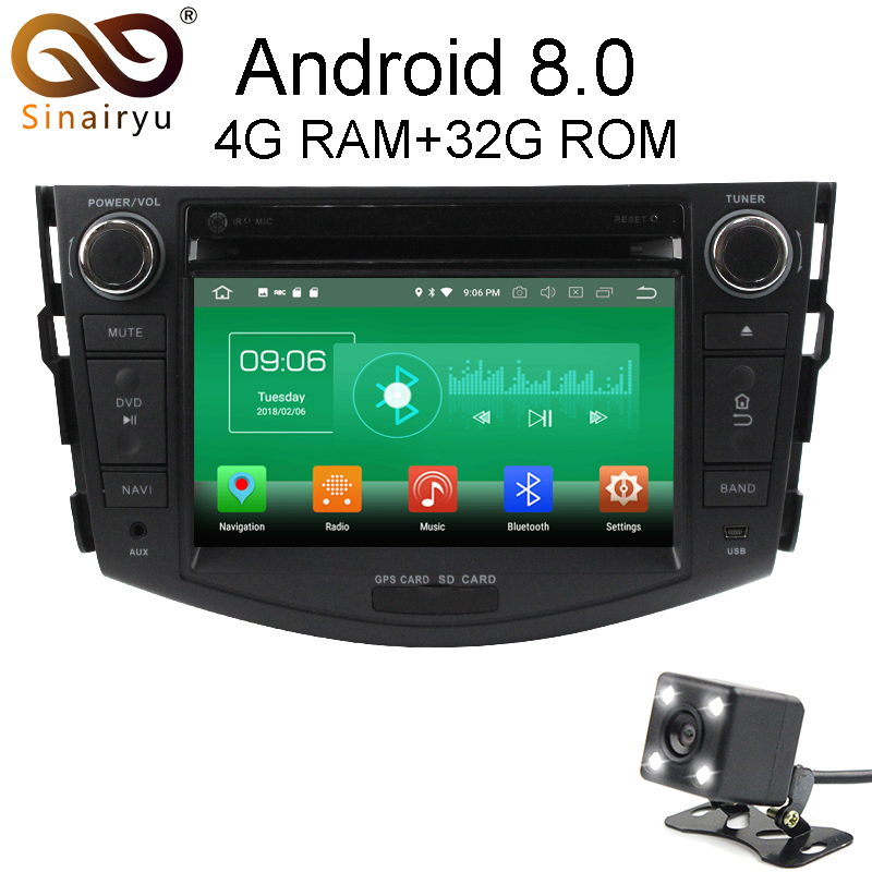 Sinairyu 4G RAM Android 8 0 Car DVD For Toyota RAV4 RAV 4 2006 2007 2008