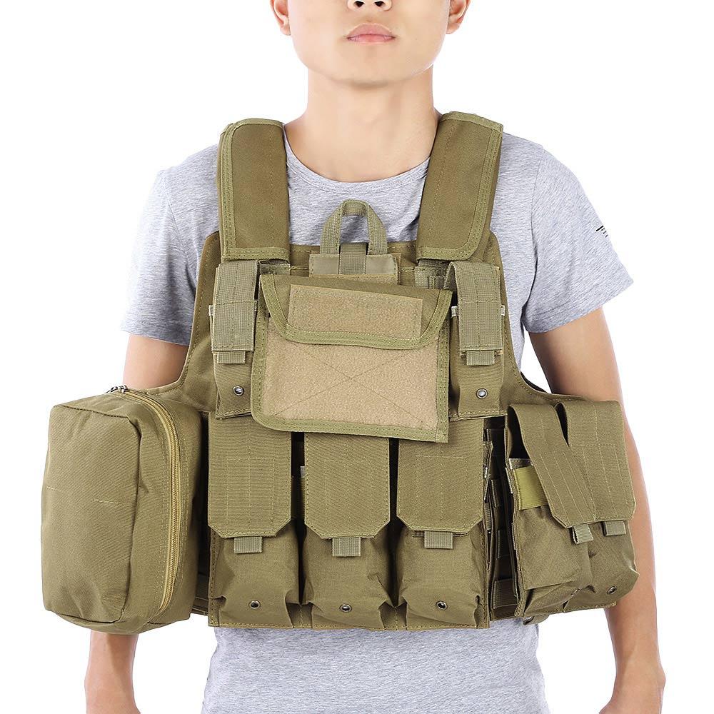 Gilet tactique de chasse avec beaucoup de poches militaire Molle - Sportswear et accessoires - Photo 1