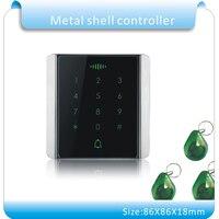 Free Shipping 125KHZ rfid access control rfid card access control Metal touch keypad access control +10pcs jade style keyfobs
