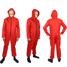 money Heist hot movie Salvador delivery Dali mask The Paper House cosplay costume red monkeys Child adult uniform