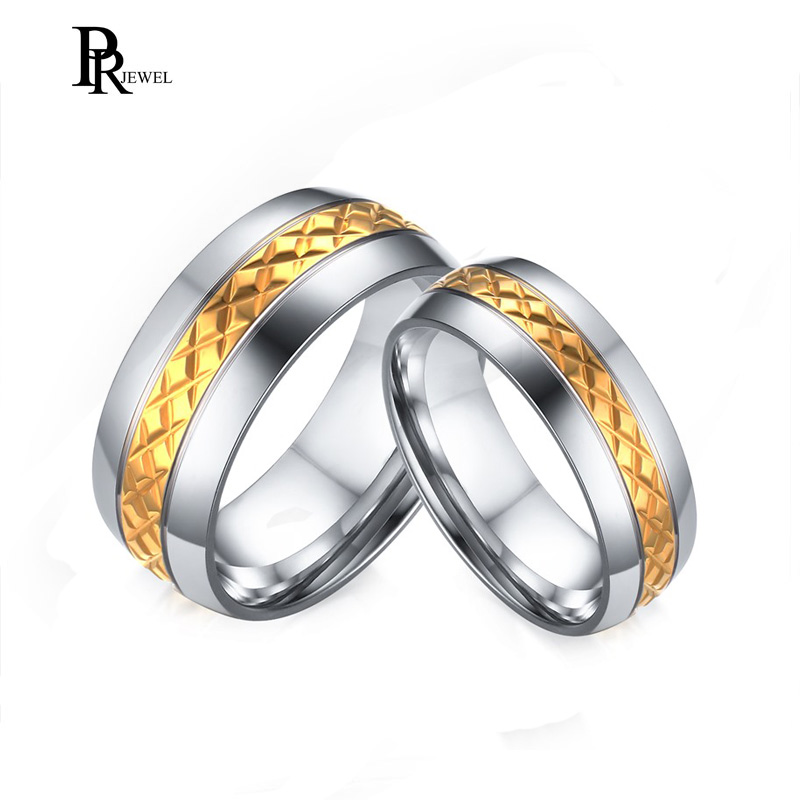 8MM Men Titanium Stainless Steel Couple Wedding Bands For