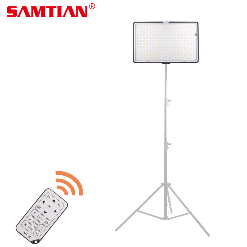 SAMTIAN TL-240S LED Light for Video On-camera Light Photography Lighting 3200K/5600K 240 LEDs CRI93 Studio Light with Battery gvm 520s b led video light with battery cri97 3200k 5600k for video making photography lighting and location shooting panel