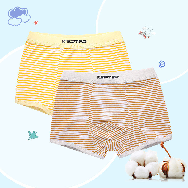 Zoe Saldana Boy's Underwear 2018 New 4 Pcs/Lot Striped Boxer Teenager Panties Cotton Baby Boy Briefs Soft Comfortable Underpants 1