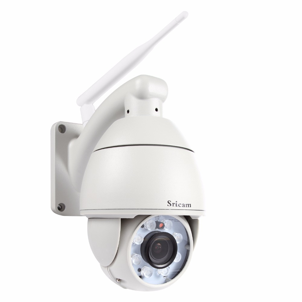 Sricam 5xZoom H.264 1.0MP IP66 Waterproof Outdoor ip camera 720p IR CUT High Night Vision HD Wireless P2P Wifi CCTV Camera sricam outdoor waterproof 300kp cmos wireless p2p wifi ir night vision ip camera silvery white
