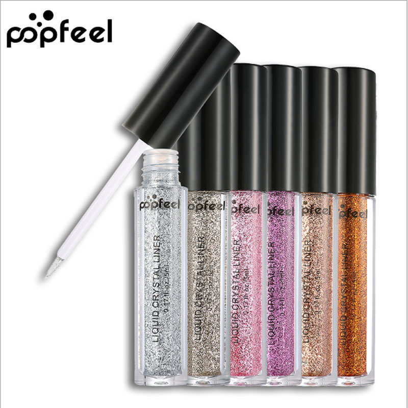 Popfeel Metallic Glitter Eyeshadow Loose Powder Pro Makeup Eye Shadow Shimmer Pigment Face Highlighter Nude Make Up Cosmetics