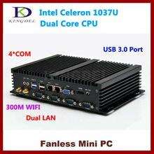 4 ГБ Оперативная память 64 ГБ SSD мини настольный Промышленные ПК с Intel Celeron 1037U Dual Core 1.8 ГГц Процессор, 2*1000 м LAN, 4 * COM, USB 3.0, VGA, HDMI