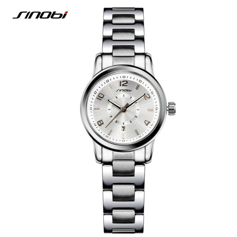 SINOBI Fashioh Women Wrist Watches Golden Watchband Brand Luxury Ladies Quartz Clock Female Bracelet watch Montres Femmes F27 mjartoria ladies watches clock women quartz watch simple sport bracelet watch student girl female hand wrist watches for women