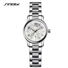 Fashioh sinobi relógios de pulso das mulheres pulseira de ouro marca de luxo ladies quartz relógio feminino pulseira de relógio montres femmes f27
