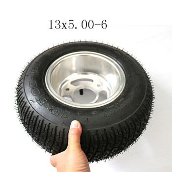Small  13x5.00-6  Kart Four-Wheeled ATV Modified 6-Inch Tires 13X5.00-6 Inch Off-Road Tire Wheel Motorcycle Wheel Rim With Tube