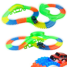300/150 PCS Bend Flexible Curve Slot DIY Track Toy Set with glows in the dark Track LED light Racing Car Toys for children kids kids rc car toy speed pipes racing track remote control building tubes diy set flash light baby educational toys for children page 4 page 5