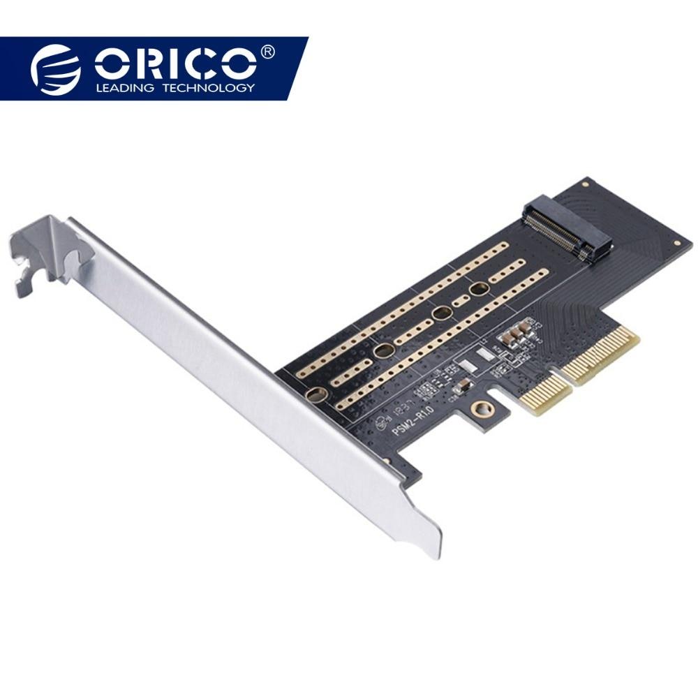 ORICO PCI-E PCI Express 3,0 Gen3 X4 a M.2 M clave SSD M2 clave tarjeta de interfaz PCI Express 3,0x4 2230 4x2242, 2260, 2280 tamaño