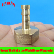 цена на 6mm Hose Barb Tail To 1/2PT BSP Female Thread Straight Barbed Brass Connector Joint Copper Pipe Fitting Coupler Adapter