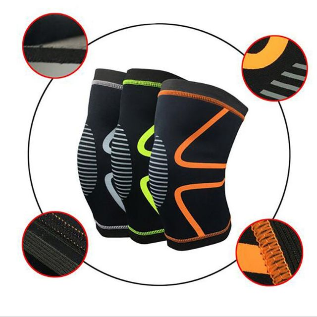 1PCS Knee Support Knee Pads Brace Kneepad Gym Weight lifting Knee Wraps Bandage Straps Guard Compression Knee Sleeve Brace