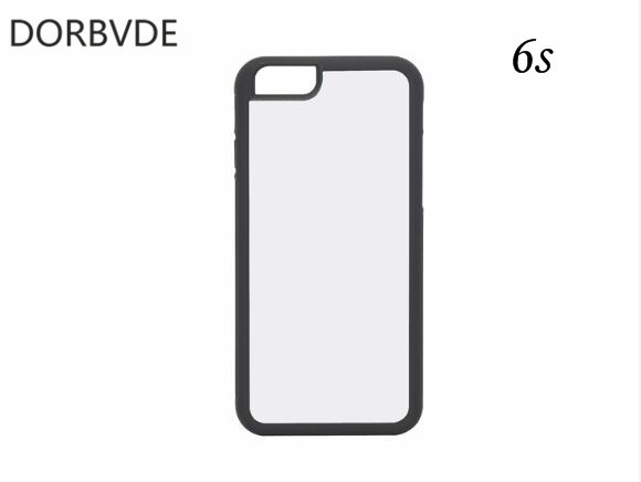 buy online c7c67 4961f US $100.0 |Best Blank 2D Sublimation TPU+PC Rubber Case for iphone 6 6s 7 8  with Matel plates Inserts and 3M Glue 50pcs/lot-in Fitted Cases from ...