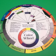 Free Shipping 1 Pcs Modulation Color Tool Tattoo Permanent Makeup Color Wheel Used To Formulate Various Desired Colors