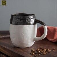 Japanese Black And White Mugs Coffee Cup Water Beautiful Art Supplies China Mug Copo Handmade Simple Office Cup Milk JKE215